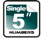 "5"" Race Numbers (1 to 9)"